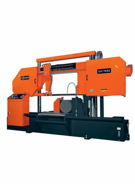 Cosen SH-7662 heavy duty semi automatic bandsaw machine