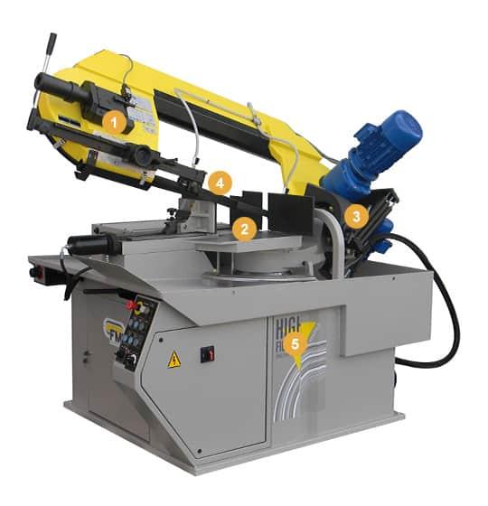Pegasus+ G+ VHZ Manual Mitre Cutting Bandsaw Machine